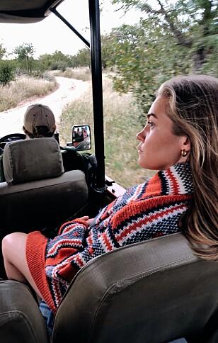 UFORGLEMMELIG: Oda beskriver opplevelsen av Sør-Afrika som «helt unik». Her er hun på safari i nasjonalparken Kruger. FOTO: Privat