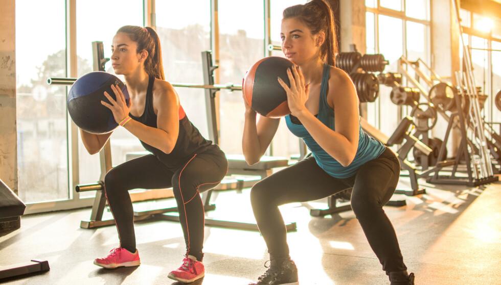 UNNGÅ PLAGER: Styrketrening er en god måte å styrke musklene og forebygge plager. FOTO: NTB scanpix