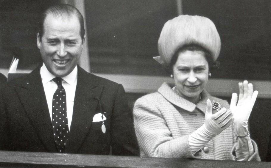 RYKTER: Det er blitt spekulert i om dronning Elizabeth og Lord Porchester hadde en affære. Dette bildet er tatt i 1967. FOTO: NTB scanpix