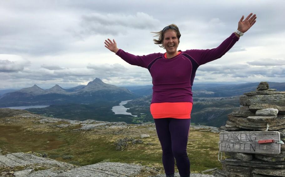 GODT FOR SJELA: Nina har fått erfare hvor viktig trening er - ute og inne - i kampen mot angsten. FOTO: Privat