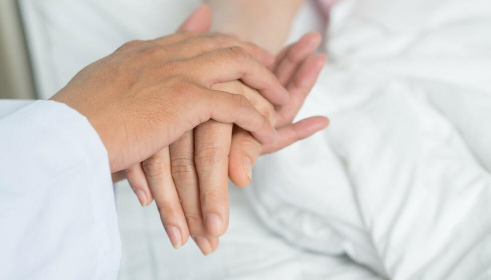 SLUTTEN: En dødsdoula fungerer som en ekstra støtte og trygghet – både for den syke og de pårørende – i møte med døden. FOTO: NTB Scanpix