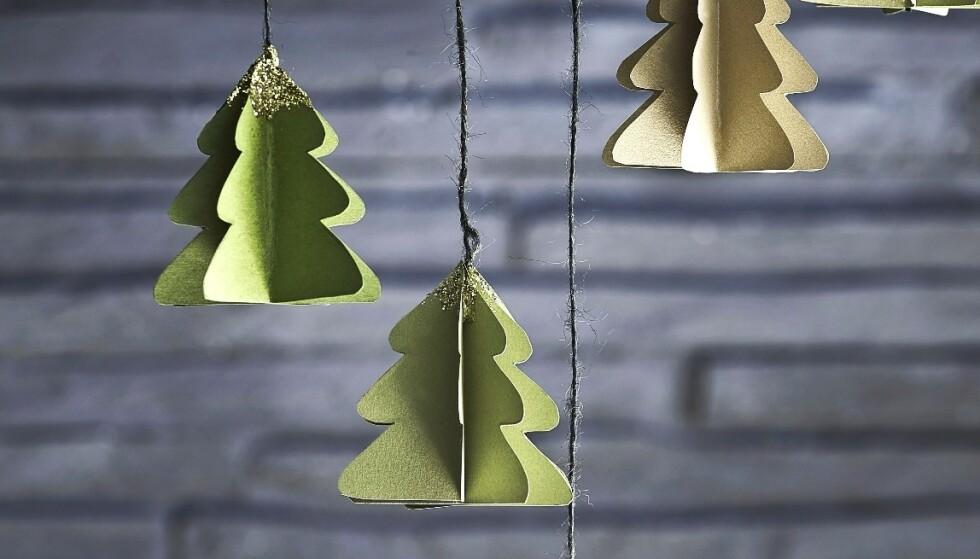 Pynt julehjemmet ditt med disse små trærne