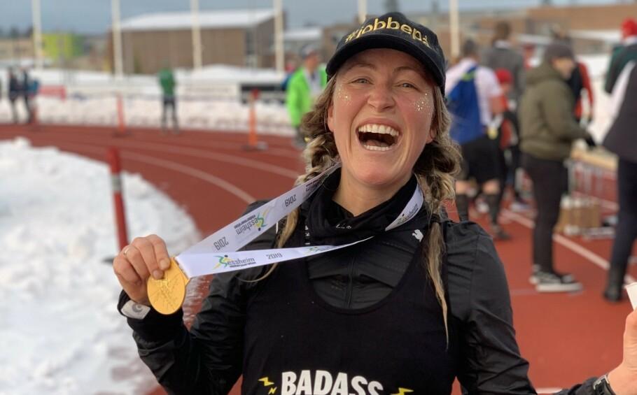KRITISERES AV MAMMAPOLITIET: Stines deltagelse i flere maraton under graviditeten har vakt oppsikt. FOTO: Privat