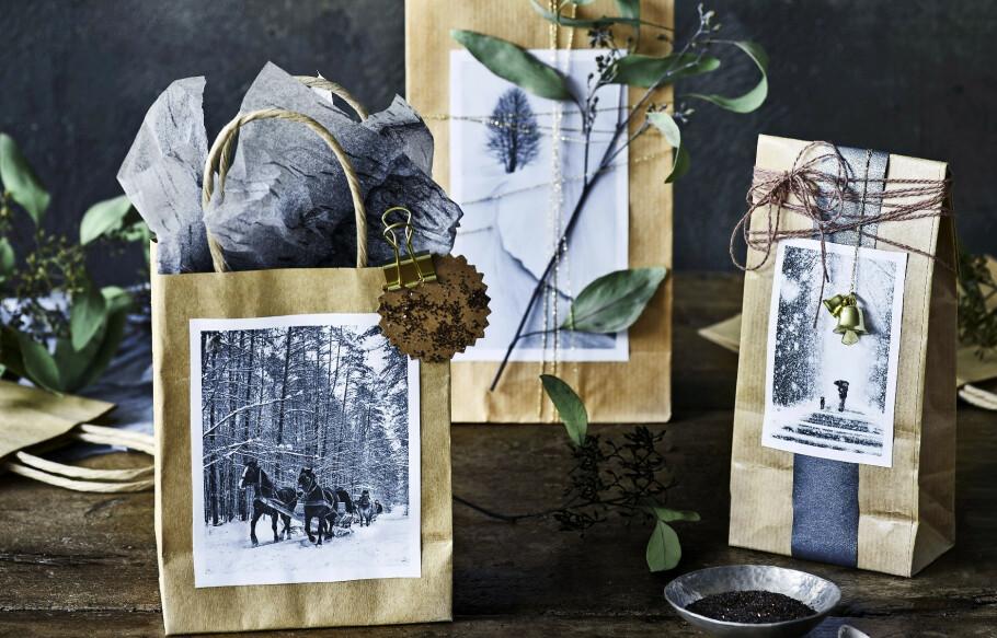 JULEGAVER: Hvorfor ikke pakke inn årets gaver i gjenbrukspapir? FOTO: Skovdalnordic.com