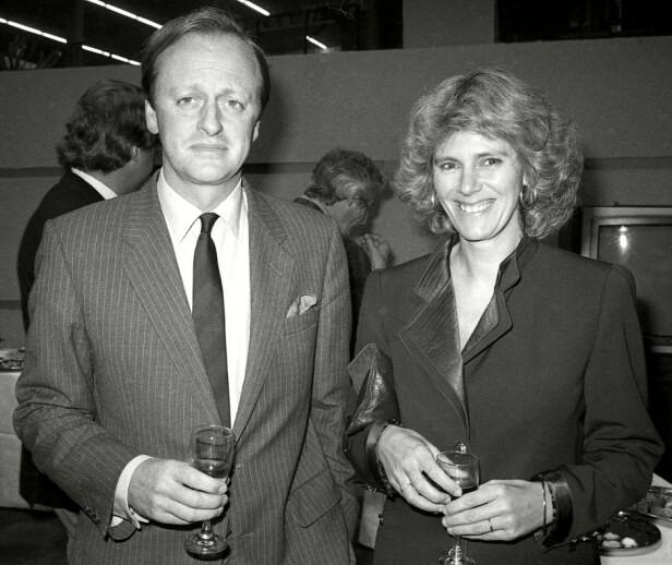 RETTE EKTEFOLK?: Andrew og Camilla Parker Bowles i forbindelse med en boklansering i 1985. FOTO: NTBScanpix