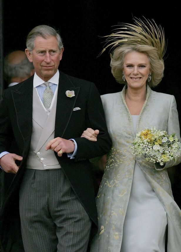 GIFT: ... men slett det ved første blikk. Det skulle ta over over 30 år fra de møttes til Charles endelig fikk sin Camilla. FOTO: NTBScanpix.