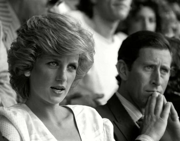 ONDE DAGER: Diana og Charles under Live Aid på Wembley Arena i 1985. FOTO: NTBScanpix
