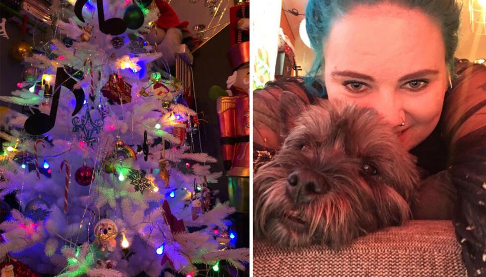 PYNT GIR GLEDE: For Nadine er julepynt en ekstra glede i hverdagen før jul. FOTO: Privat