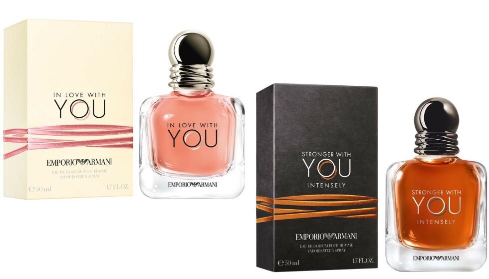 Parfymer for han og henne fra Giorgio Armani.