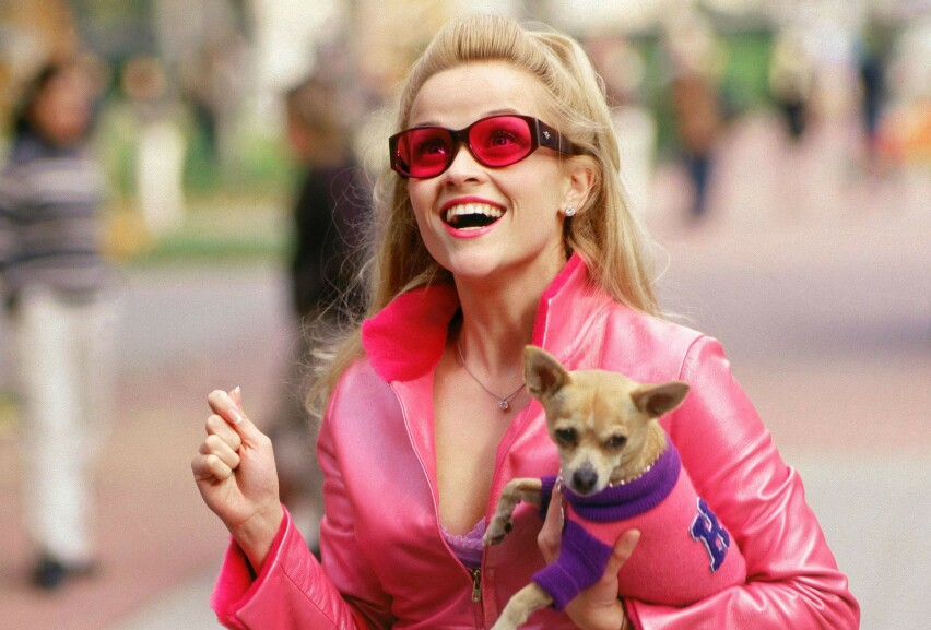 GJENSYN: Det er hele 16 år siden vi sist så Reese Witherspoon som den smarte, rosa-elskende advokatspiren Elle Woods. I 2020 gjør hun comeback i rollen. FOTO: Metro-Goldwyn-Mayer