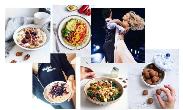 MAT I HVERDAGEN: Emilie hadde en hektisk hverdag under Skal VI Danse og savnet aller mest å lage mat. FOTO: Privat