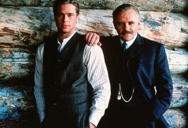 LEGENDER: Brad Pitt og Anthony Hopkins spilte sammen for første gang i filmen Legends Of The Fall fra 1994. FOTO: NTB scanpix