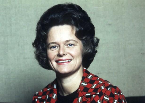 Dette bildet er fra 1974, samme år som Gro ble miljøvernminister. FOTO: NTBScanpix
