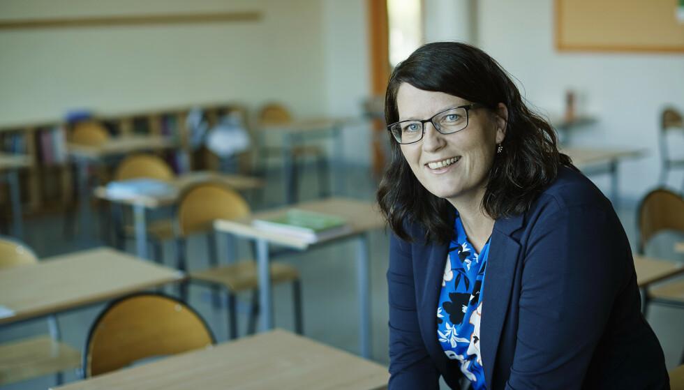 REKTOR: Hege er rektor ved en stor skole og mestrer hverdagen godt med riktige doser insulin. FOTO: Bård Gudim