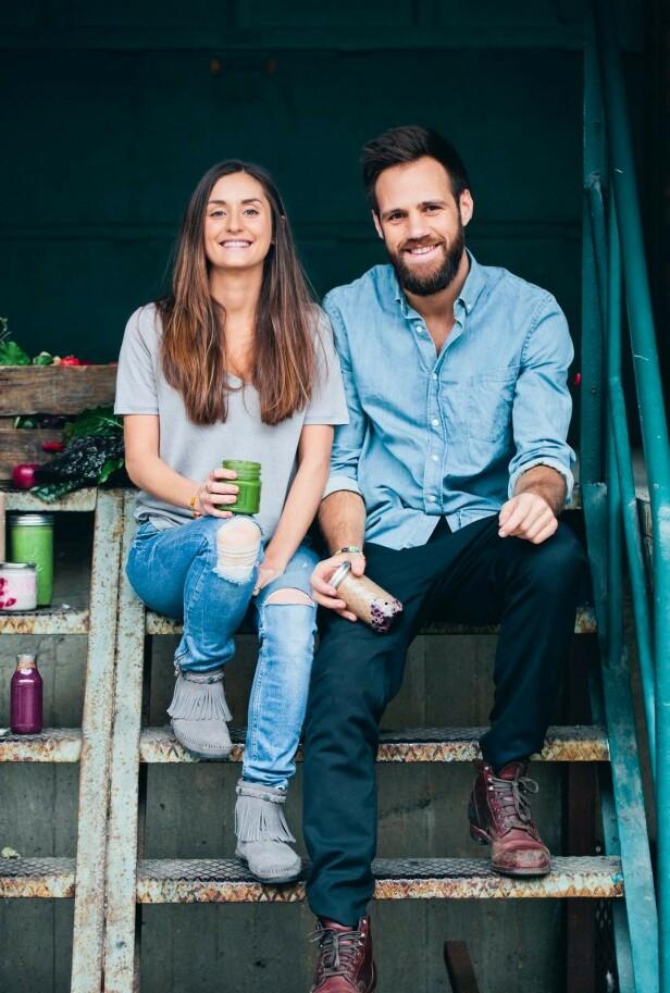 – Grønnsakpositivisme har vært vår drivkraft, sier Luise og David. FOTO: Johanna Frenkel og David Frenkiel