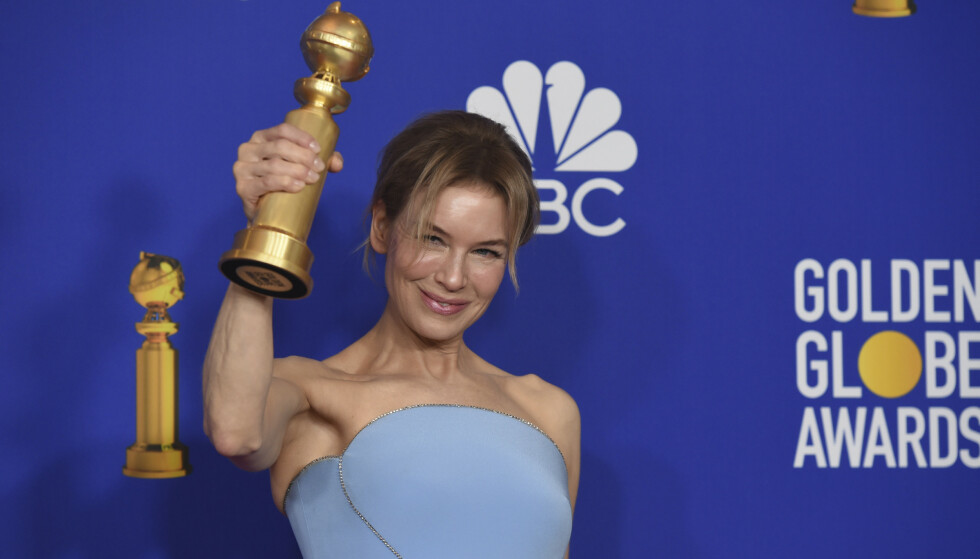 GOLDEN GLOBES: Renee Zellweger vant pris for sin rolle i Judy. Foto: NTB Scanpix