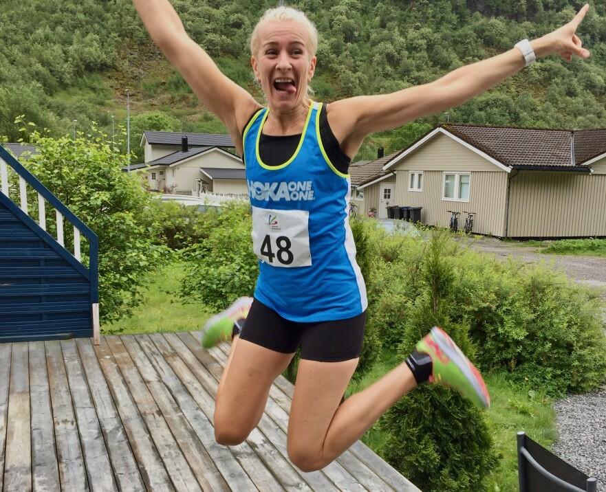 RYGGMARGSBROKK: – Det første jeg gjør etter alle løp, er å ringe til sykehuset og fortelle om mine prestasjoner. FOTO: Privat