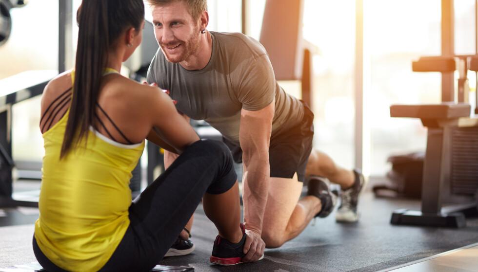 NY KJÆRESTE: Hva er vel mer motiverende enn å benytte treningstimen til å kanskje finne en potensiell partner? FOTO: NTB Scanpix
