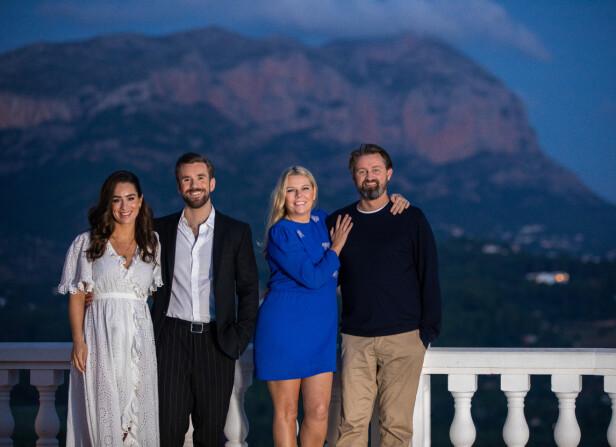 GJESTER: Stian Blipp og kona Jamina er noen av gjestene Thomas og Annette inviterte til Spania. Paret ønsker at gjestene skal sitter igjen med følelsen av å ha vært på besøk, snarere enn å ha vært med i et TV-program. FOTO: TV2