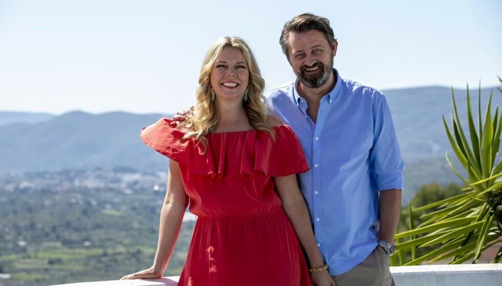 CASA NUMME: Paret Numme er premiereklare med eget TV-program. Under innspillingen i feriehuset i Spania lettet de på sløret også om egne opp- og nedturer i forholdet. FOTO: TV2