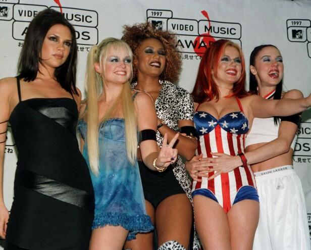 90-TALLET: Spice Girls var med på å skape mange trender da de var på sitt største. Foto: NTB