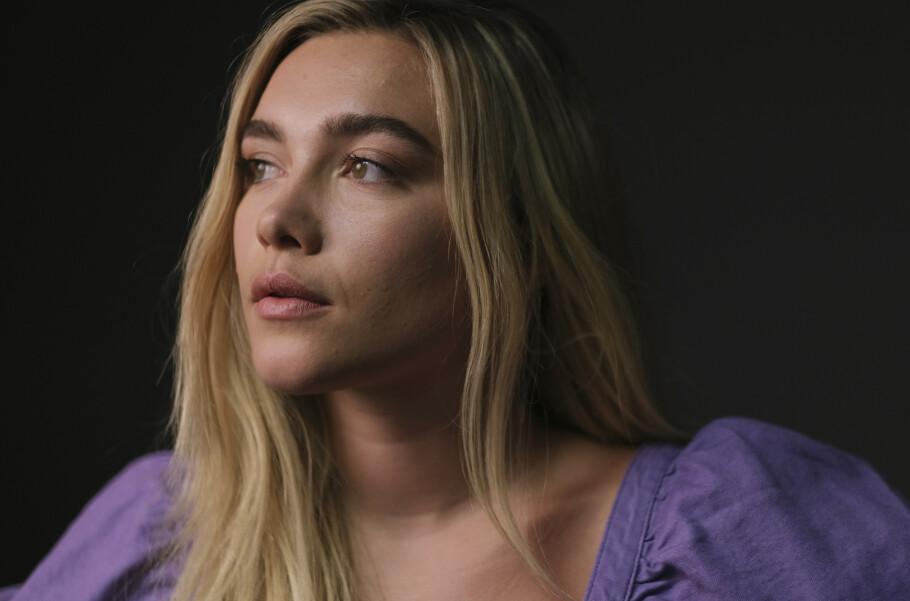 FLORENCE PUGH: Den 24 år gamle skuespilleren er nominert til en BAFTA for sin rolle i Little Women. Foto: NTB Scanpix