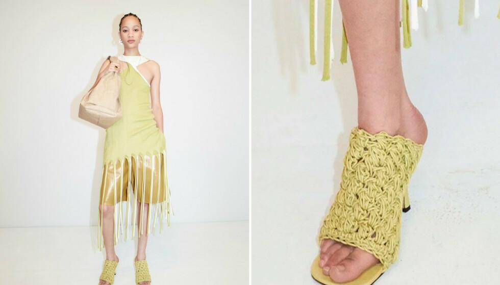GJØRES NARR AV: Det er dette skoeparet fra Bottega Veneta som får gjennomgå i sosiale medier. FOTO: Bottega Veneta