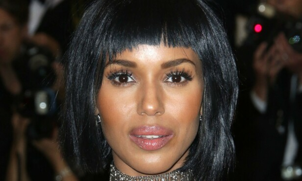 KERRY WASHINGTON: Bowl cut med luggen i fokus. Foto: NTB Scanpix
