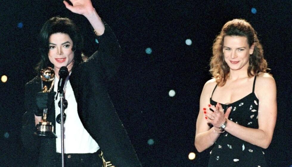 FANT TONEN: Stéphanie og Michael Jackson hadde et musikalsk samarbeid på platen Dangerous på 90-tallet. FOTO: NTB Scanpix