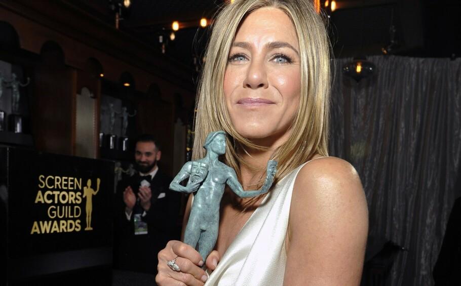 SAG AWARDS: Jennifer Aniston er blant kveldens heldige vinnere. Foto: NTB Scanpix