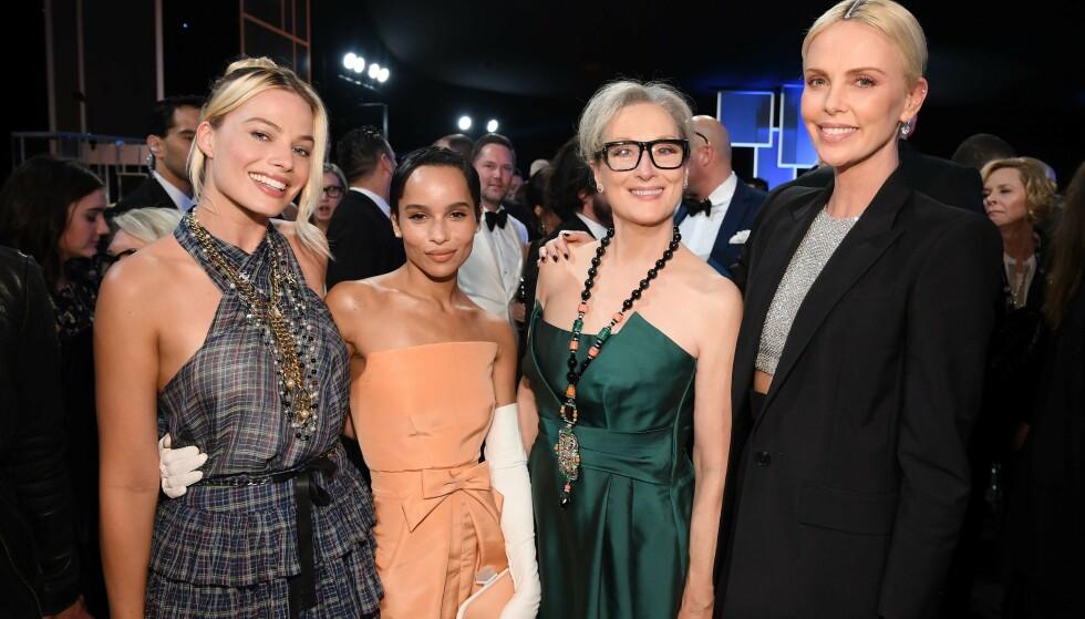 SAG AWARDS 2020: Margot Robbie, Zoe Kravitz, Meryl Streep og Charlize Theron var alle tilstede under prisutdelingen. Foto: NTB Scanpix