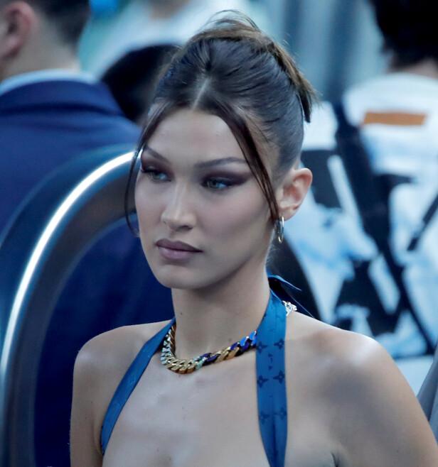 <strong>BELLA HADID:</strong> Modellen har allerede blitt spottet med frisyren flere ganger. Foto: NTB Scanpix