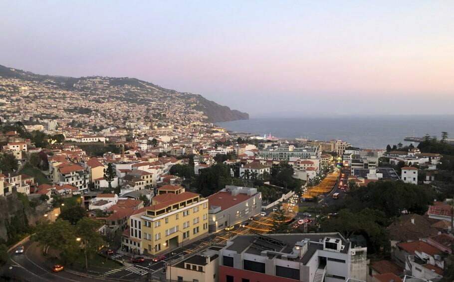 REISE: Funchal er den største byen på Madeira. FOTO: Dorthe Kandi