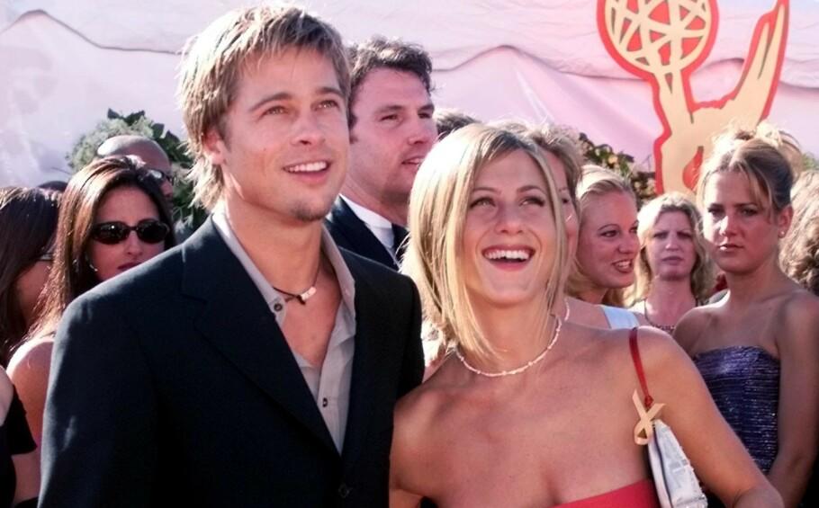 «BENNIFER»: Brad Pitt og Jennifer Aniston endte ekteskapet sitt i 2005. Foto: NTB Scanpix