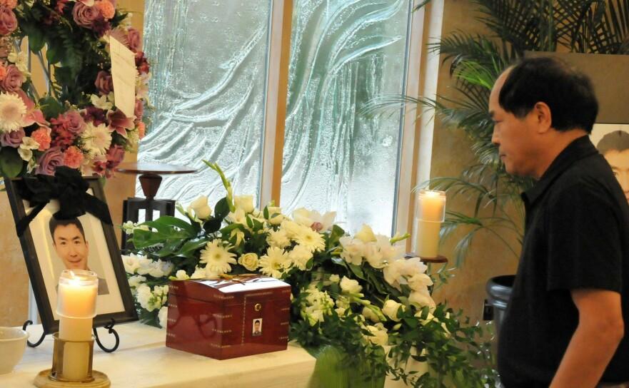 <strong>DREPT:</strong> Den kinesiske utveklingsstudenten Jun Lin ble drept av kanadiske Luka Magnotta i 2012. Han ble 33 år. Her fra minnemarkeringen i Canada i juli 2012. FOTO: NTB scanpix