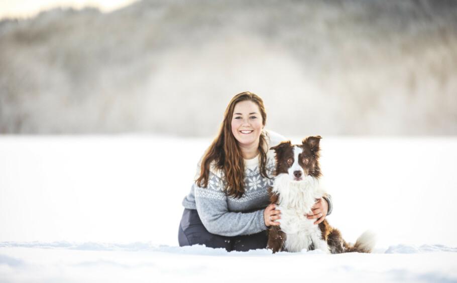 HUNDETRENER: Maren Teien Rørvik har drevet med hund hele livet. Her med border collien Keen Kiter, som er i høyeste klasse av lydighet og gjeting. FOTO: Stineogjarlen.com