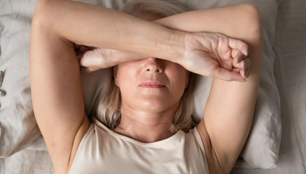 <strong>PLAGER I OVERGANGSALDEREN:</strong> Mange kvinner opplever hetetokter og tørre slimhinner i overgangsalderen.