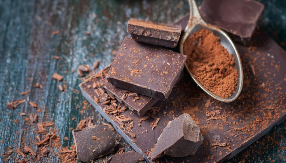 BRA FOR HUDEN: Visstnok skal mørk sjokolade ha en positiv effekt på huden vår. FOTO: NTB Scanpix