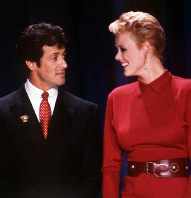 MANN OG KONE: Danske Brigitte gjorde det stort i Hollywood, og giftet seg med en av Hollywods aller største stjerner, Sylvester Stallone. FOTO: NTB Scanpix