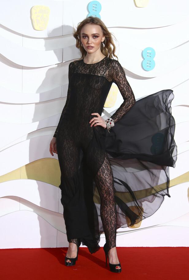 BAFTA: Lily Rose-Depp. Foto: NTB Scanpix
