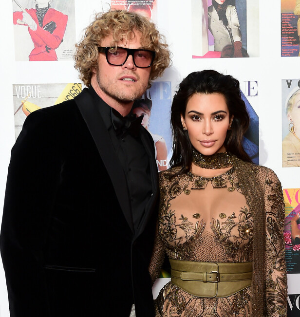 VENNER: Peter Dundas har kledd opp Kim Kardashian (t.v.) ved flere anledninger. Foto: NTB Scanpix