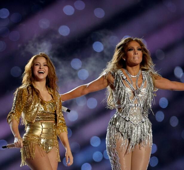 FÅR IKKE BETALT: De to superstjernene får ikke betalt for Super Bowl-opptredenen sin. Foto: NTB Scanpix