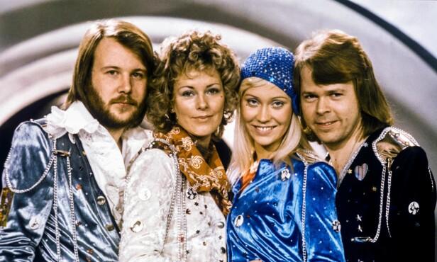 GLANSDAGENE: ABBA er et av verdens mest kjente popband, og slo igjennom i 1972. Foto: NTB Scanpix
