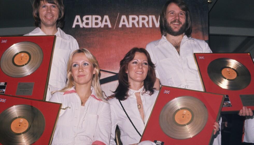 SENSASJONER: ABBA tok verden med storm i 1972. Foto: NTB Scanpix