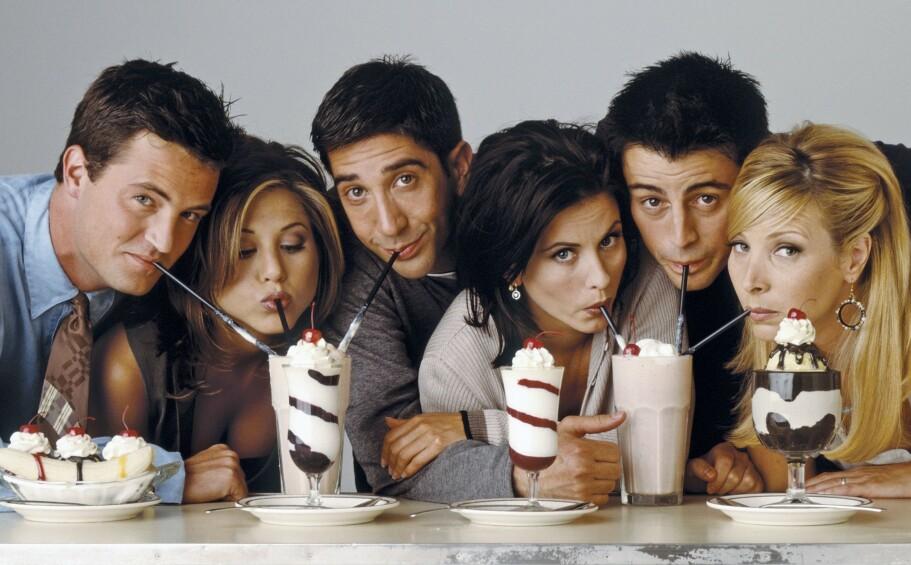 POPULÆR GJENG: Den siste episoden av «Friends» kom på lufta for hele 16 år siden, men de seks skuespillerne som fylte hovedrollene har fremdeles en ivrig fanbase. FOTO: Warner Bros. Studios