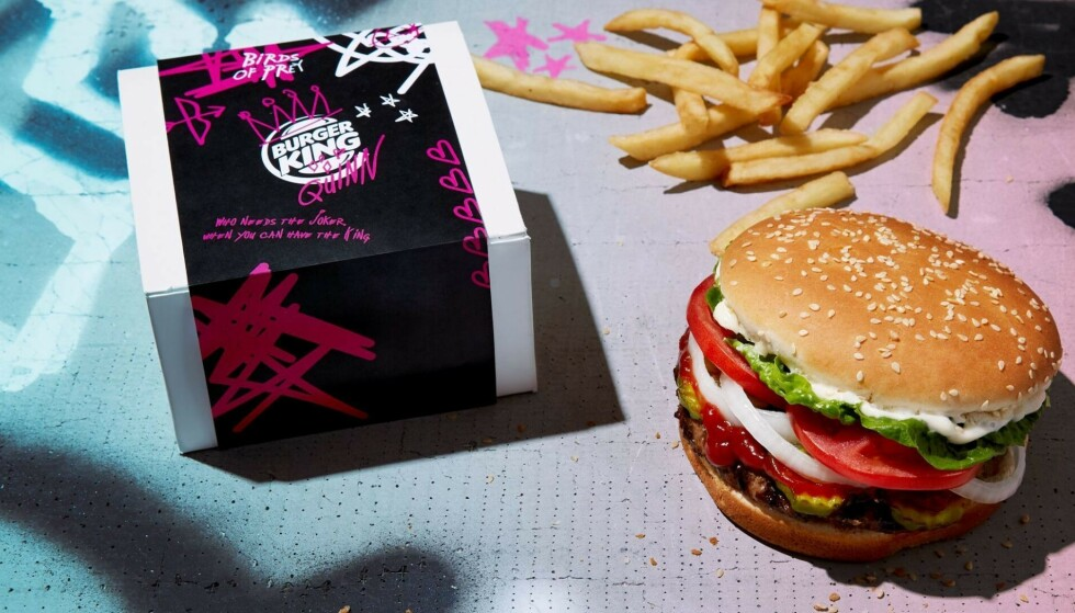 BURGER KING: Burger-kjeden gir ut en gratis Whopper dersom du legger igjen et bilde av eksen din! Foto: Burger King