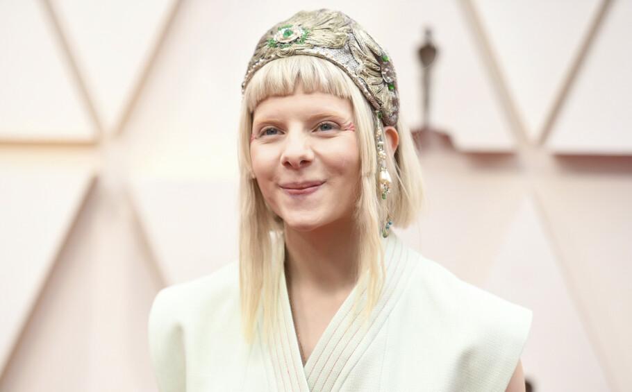 OSCAR 2020: Den norske sangstjernen Aurora er på plass i Los Angeles for å opptre på den prestisjefylte utdelingen. Foto: NTB Scanpix