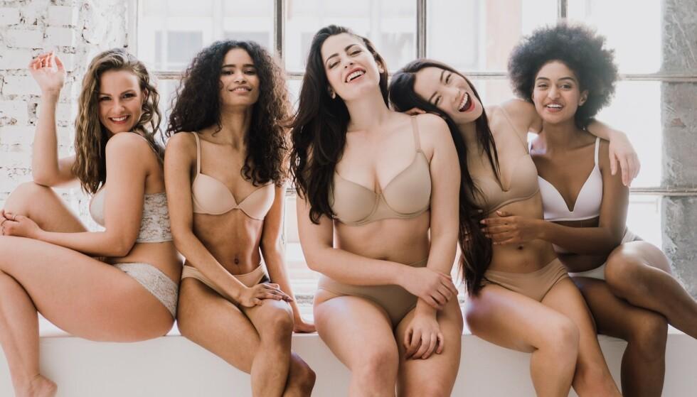 FORNØYDE MED BRYSTSTØRRELSEN: I en ny undersøkelse ble 18.000 kvinner i 40 land spurt om hvor fornøyde de er med brystene sine. FOTO: NTB Scanpix