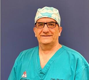 INGEN ØVRE GRENSE: Plastikk kirurg Amin Kalaaji forteller at kvinner helt opp i 70-årene ønsker å operere brystene sine. FOTO: Privat