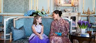 Emilia (7) lider av hjernesvulst - så fikk hun en drømmedag av kronprinsesse Victoria